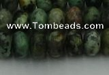 CRB2902 15.5 inches 6*10mm rondelle African turquoise beads