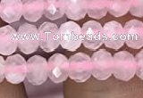 CRB3000 15.5 inches 3*4mm faceted rondelle rose quartz beads