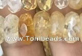 CRB3014 15.5 inches 6*12mm faceted rondelle citrine beads