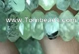 CRB3017 15.5 inches 6*12mm faceted rondelle prehnite beads