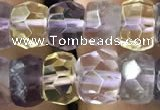 CRB3019 15.5 inches 6*8mm faceted rondelle ametrine beads