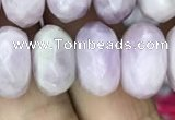 CRB3053 15.5 inches 9*16mm faceted rondelle kunzite beads