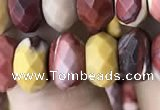CRB3055 15.5 inches 6*10mm faceted rondelle mookaite beads