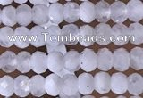 CRB3106 15.5 inches 2*3mm faceted rondelle tiny white moonstone beads