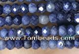 CRB3113 15.5 inches 2*3mm faceted rondelle tiny sapphire beads