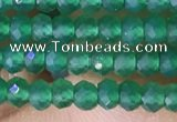 CRB3127 15.5 inches 2*3mm faceted rondelle tiny green agate beads