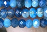 CRB3175 15.5 inches 2.5*4mm faceted rondelle tiny apatite beads