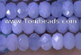 CRB3185 15.5 inches 3*5mm faceted rondelle tiny aquamarine beads