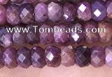 CRB3187 15.5 inches 3*5mm faceted rondelle tiny ruby gemstone beads