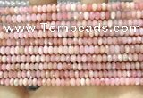 CRB3202 15.5 inches 2.5*4mm faceted rondelle pink opal beads