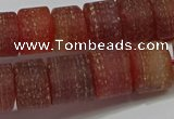 CRB325 15.5 inches 8*12mm tyre matte red agate gemstone beads