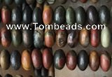 CRB4013 15.5 inches 2.5*4.5mm rondelle picasso jasper beads wholesale