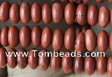 CRB4014 15.5 inches 2.5*4.5mm rondelle red jasper beads wholesale