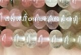 CRB4031 15.5 inches 4*6mm rondelle volcano cherry quartz beads wholesale