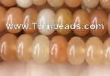 CRB4040 15.5 inches 4*6mm rondelle red aventurine beads wholesale
