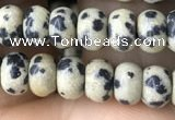 CRB4049 15.5 inches 4*6mm rondelle dalmatian jasper beads wholesale