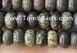 CRB4054 15.5 inches 4*6mm rondelle artistic jasper beads wholesale