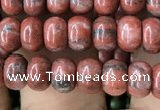 CRB4055 15.5 inches 4*6mm rondelle red sesame jasper beads wholesale