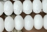 CRB4071 15.5 inches 5*8mm rondelle white porcelain beads wholesale