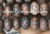 CRB4074 15.5 inches 5*8mm rondelle leopard skin jasper beads wholesale