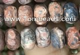 CRB4124 15.5 inches 5*8mm faceted rondelle leopard skin jasper beads