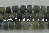 CRB481 15.5 inches 4*6mm tyre labradorite gemstone beads