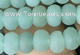 CRB5004 15.5 inches 4*6mm rondelle matte green aventurine beads