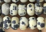 CRB5009 15.5 inches 4*6mm rondelle matte dalmatian jasper beads