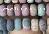 CRB5012 15.5 inches 4*6mm rondelle matte picasso jasper beads