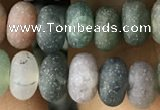 CRB5019 15.5 inches 4*6mm rondelle matte Indian agate beads wholesale