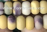 CRB5022 15.5 inches 4*6mm rondelle matte mookaite beads wholesale