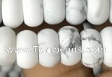 CRB5050 15.5 inches 5*8mm rondelle matte white howlite beads wholesale