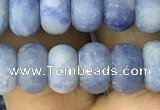 CRB5055 15.5 inches 5*8mm rondelle matte blue aventurine beads