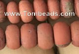 CRB5064 15.5 inches 5*8mm rondelle matte red jasper beads wholesale