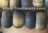 CRB5074 15.5 inches 5*8mm rondelle matte yellow tiger eye beads