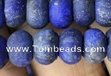 CRB5075 15.5 inches 5*8mm rondelle matte lapis lazuli beads wholesale