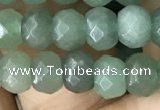 CRB5104 15.5 inches 4*6mm faceted rondelle green aventurine beads