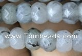 CRB5118 15.5 inches 4*6mm faceted rondelle labradorite beads
