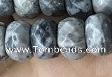 CRB5160 15.5 inches 5*8mm faceted rondelle grey picture jasper beads