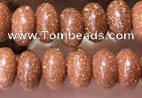 CRB5316 15.5 inches 4*6mm rondelle goldstone beads wholesale
