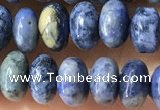 CRB5318 15.5 inches 4*6mm rondelle dumortierite beads wholesale