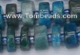 CRB539 15.5 inches 7*14mm tyre apatite gemstone beads wholesale