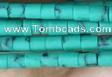 CRB5523 15 inches 2*2mm heishi synthetic turquoise beads wholesale
