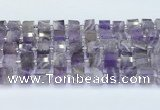 CRB5604 15.5 inches 7mm - 8mm faceted tyre amethyst beads