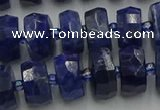 CRB581 15.5 inches 6*10mm faceted rondelle sodalite beads