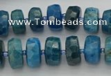 CRB591 15.5 inches 8*14mm faceted rondelle apatite beads