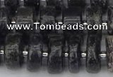 CRB633 15.5 inches 6*12mm tyre charoite gemstone beads