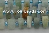 CRB645 15.5 inches 5*8mm tyre aquamarine gemstone beads