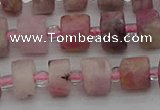 CRB657 15.5 inches 5*8mm tyre pink tourmaline gemstone beads