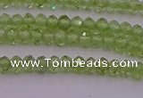 CRB703 15.5 inches 2*3mm faceted rondelle peridot gemstone beads